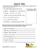 Interjections Worksheet Packet and Lesson Plan - 8 pages plus answer key