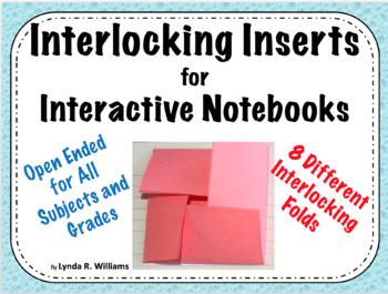 Interlocking Inserts for Interactive Notebooks