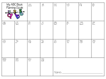 Abc Template | Intermediate Abc Book Project Template By Sarah Tighe Tpt