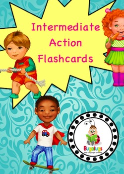 Intermediate Action / Verb Learning Flashcard Package