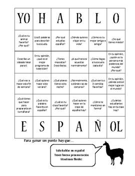 Intermediate-Advanced Intermediate Spanish Conversation Starters