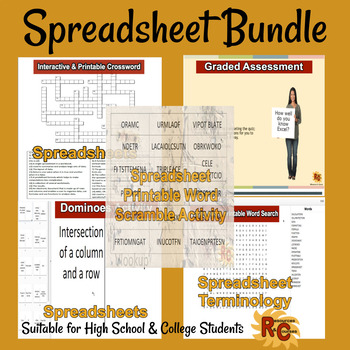 spreadsheet intermediateadvanced interactive bundle