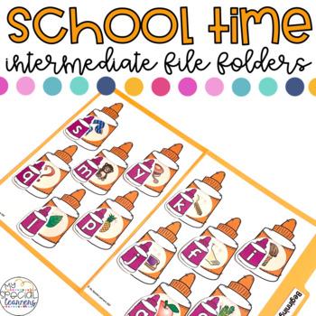 Intermediate Back to School File Folder for Special Education