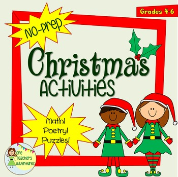 Intermediate Christmas Activities - Math, Poetry, Puzzles