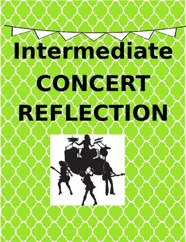 Intermediate Concert Reflection and Goal Setting (Editable!)