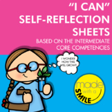 "Intermediate Core Competencies - ""I Can"" Self-Reflection Sheets"