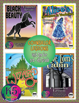 Intermediate Counselor Lesson Bundle, Unit 1 for each grade (3rd - 6th Grades)