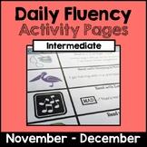 "Intermediate ""Daily Fluency"" Activity Pack (November - December)"