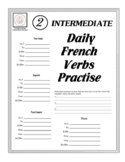 Intermediate Daily French Verbs Practise Sheets