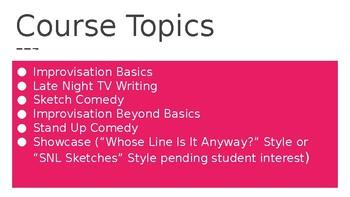 Intermediate Drama/Improv Comedy Class Back To School Night PPT