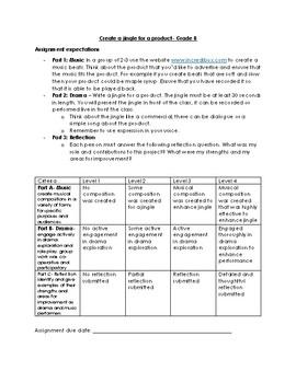 Intermediate Drama and Music Assignment