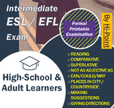 Intermediate ESL/EFL English Exam: Comparative Superlative + PowerPoint Revision