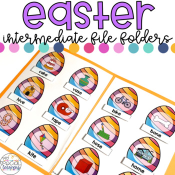 Intermediate Easter File Folder for Special Education