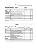 Intermediate Editing Checklist