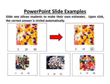 Intermediate Estimation PowerPoint Lesson, IP Worksheets & Assessment