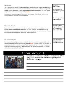 Intermediate French Scaffolded Reading: EXPULSION OF ROMS