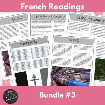 Intermediate French readings - bundle #3