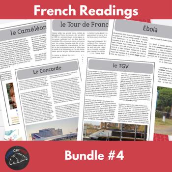 Intermediate French readings - bundle #4