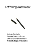 Intermediate Grade Fall Writing Assessment