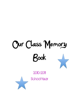 Intermediate Grades End of Year Memory Book