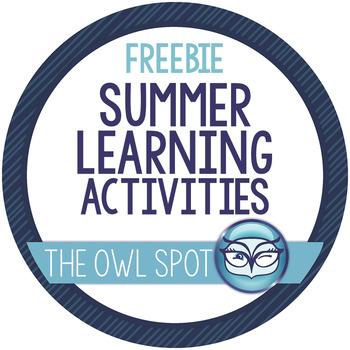 Intermediate Grades: Summer Learning Activities List