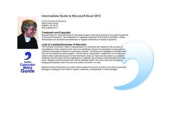 Microsoft Excel 2013 Intermediate
