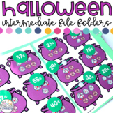 Intermediate Halloween File Folder Activities for Special Education
