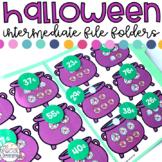 Intermediate Halloween File Folder Activities for Special