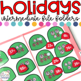 Intermediate Holidays File Folder for Special Education