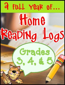 Intermediate Home Reading Logs...a Full Year!