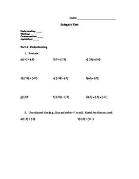 Intermediate Integers Test