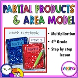 Intermediate Interactive Math Notebook Area Model and Part