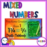 Intermediate Interactive Math Notebook Decomposing Mixed Numbers