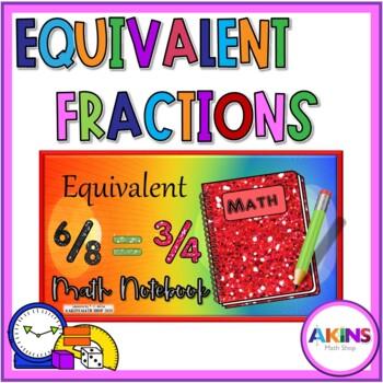 Intermediate Interactive Math Notebook Equivalent Fractions