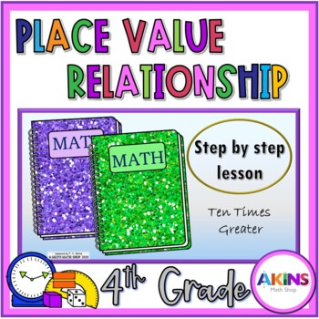 Intermediate Interactive Math Notebook Place Value Times Greater