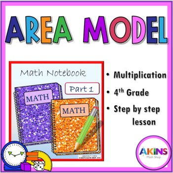 Intermediate Interactive Notebook Area Model Multiplication