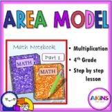 Intermediate Interactive Notebook Area Model Multiplication