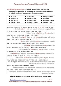 B1.02 - Interjections & Conjunctions