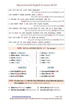 B1.03 - Adverbs from Adjectives