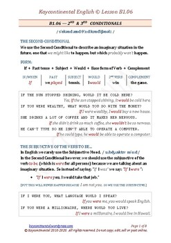 B1.06 - Second & Third Conditional