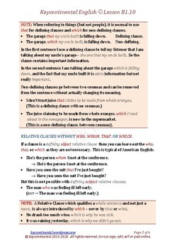 B1.10 - Relative Clauses
