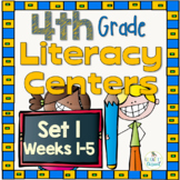 Fourth Grade Literacy Centers Set 1, {Aligned with 4th Gra