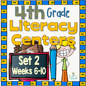 Intermediate Literacy Centers Set 2, {Aligned with 4th Gra