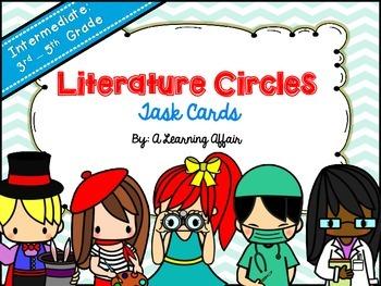 Intermediate Literature Circles Task Cards