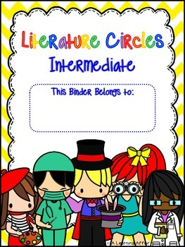 Intermediate Literature Circles Task Cards & Worksheets Bundle