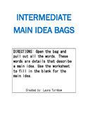 Main Idea Activity Bags: Intermediate Grades