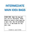 Main Idea Activity Bags: Intermediate Grades