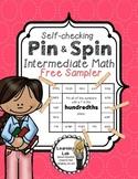 Intermediate Math (FREEBIE) - Self-Checking Math Centers