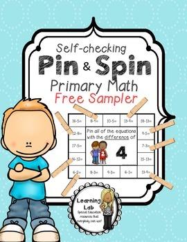 Primary Math (FREEBIE) - Self-Checking Math Centers