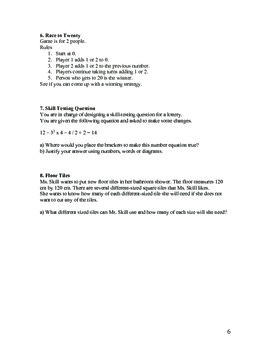 Intermediate Math Inquiry Questions